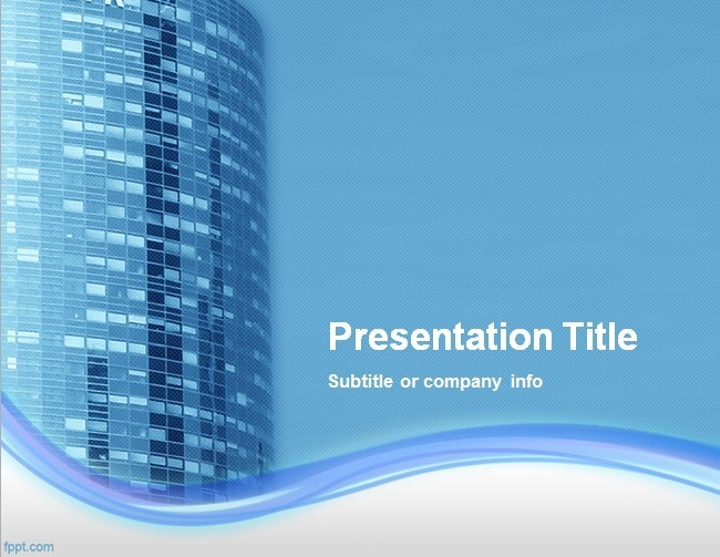 Office Building PowerPoint Template